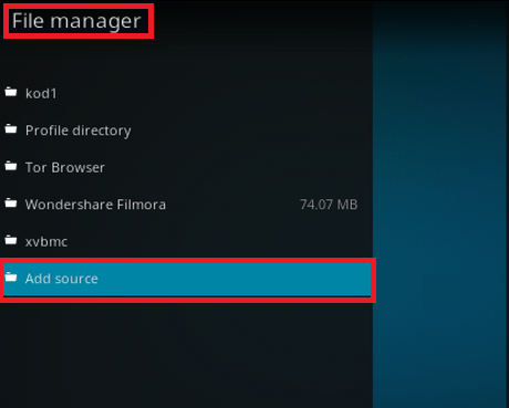 File Manager Option On Kodi