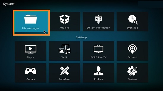 File Manager on Kodi