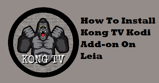 How To Install Kong TV Kodi Add-on On Leia
