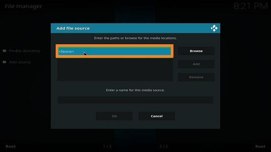 Kodi None Option