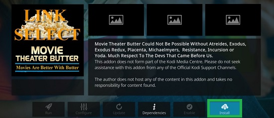 Movie Theater Butter Install