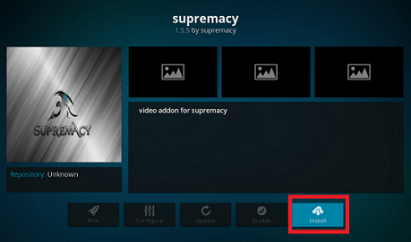 Supremacy Addon on Kodi Install