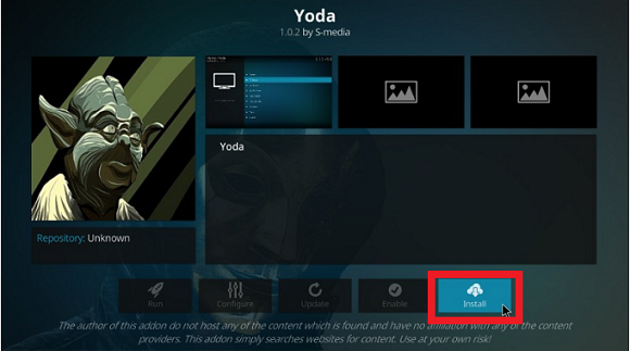 Yoda Kodi Addon on Leia
