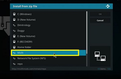 Zip File Source Kodi